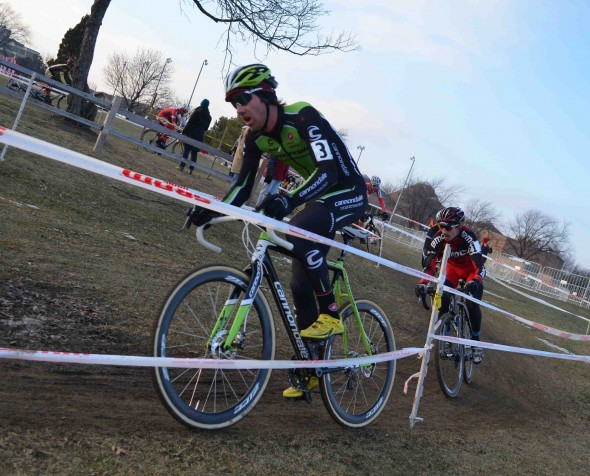 Driscoll attacked on lap 3 and never looked back. © Cyclocross Magazine