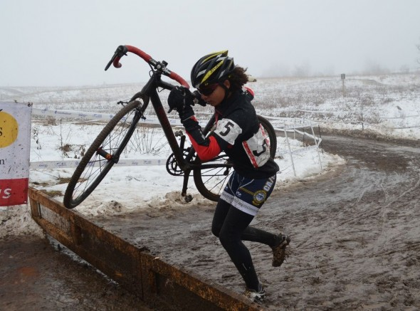 Courtney Comer on her way to the win in the National Cyclocross Championships Women 13-14 © Cyclocross Magazine
