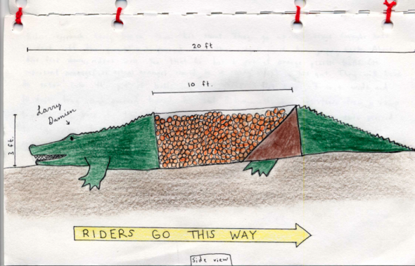 The alligator obstacle.