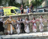 Dancing and bikes combined in Pano Lefkara. © Abdo Semaan Nader