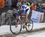 David Lombardo in the 2013 Cyclocross World Championships, Junior Men. © Cyclocross Magazine