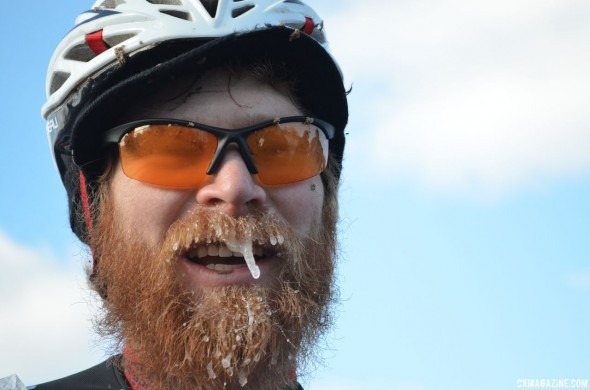Thomas Turner With an Ice Stache © Cyclocross Magazine
