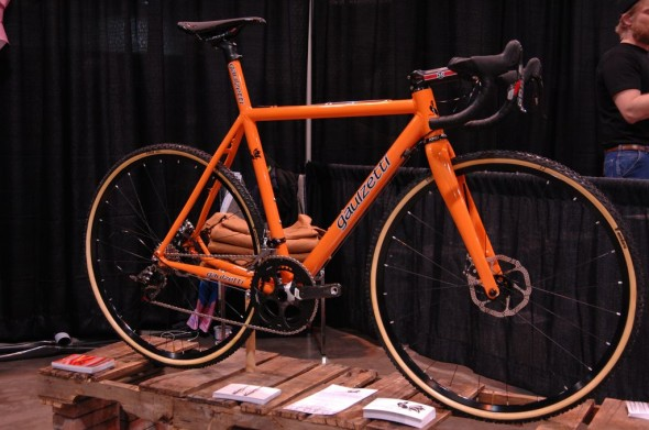 Gaulzetti's new Cabrón cyclocross bike offering. NAHBS 2013 © Lance Barry