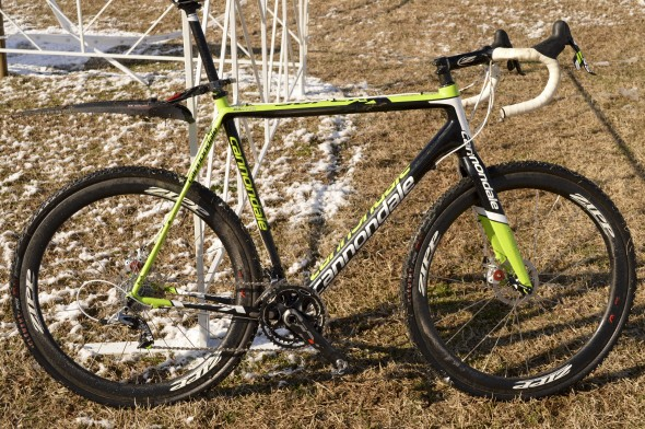 Ryan Trebon's Cannondale Hi-Mod SuperX Disc brake cyclocross bike. © Clifford Lee