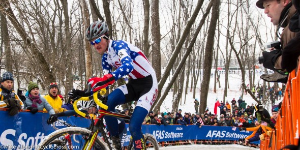 Heading uphill on the course that he'd dialed in on Thursday. © Mike Albright Photography