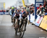Dombroski puts on her game face in the Elite Women World Championships of Cyclocross 2013 © Meg McMahon