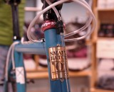 Carefully crafted, Small Batch stamps their frames.. NAHBS 2013 © Lance Barry