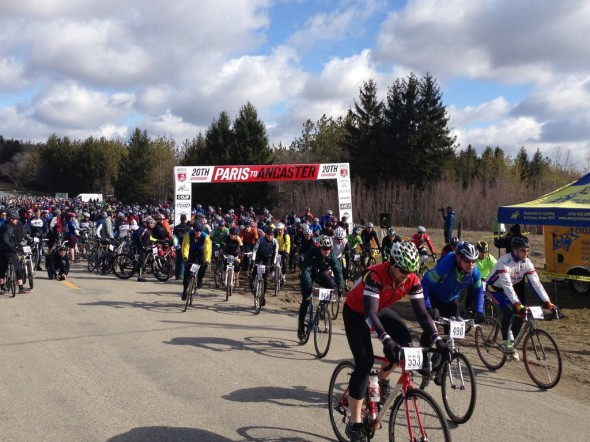 Rain the week prior to the race didn't deter participants from racing in Paris to Ancaster