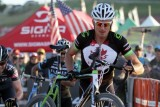 Trebon takes the barriers at the Raleigh cyclocross race at Sea Otter. © Cyclocross Magazine