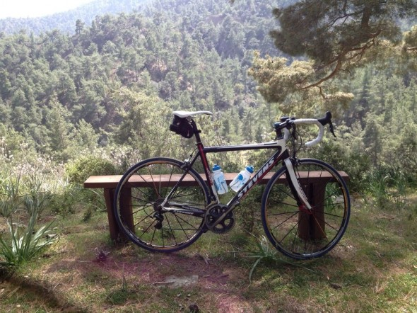 Vardaros's Stevens bike at Agios Georgios Emnen