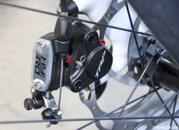 TRP Brakes HY-RD cable-actuated hydraulic disc brake. © Cyclocross Magazine