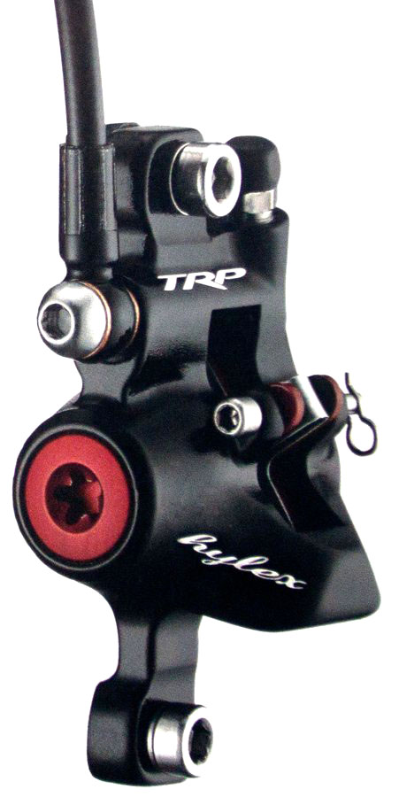 TRP's Hylex system uses the same hydraulic brake calipers with 21mm pistons that were included in the TRP Parabox 2012 system. photo: TRP