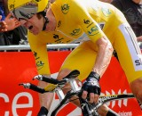 Bradley Wiggins leading the 2012 Tour de France. © Robin McConnell