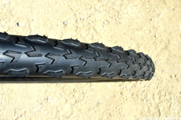 A closeup of the Vittoria XL Pro tread. © Cyclocross Magazine