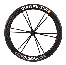 Mad Fiber Carbon tubular wheels, with carbon spokes, rim and hubs.