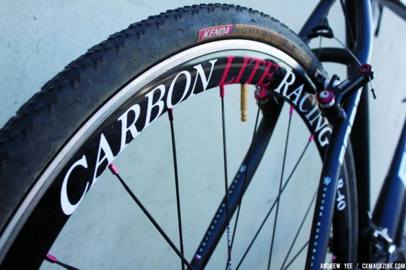 "Carbon lite racing wheels may be aluminum but live up to the ""lite"" moniker. © Andrew Yee"