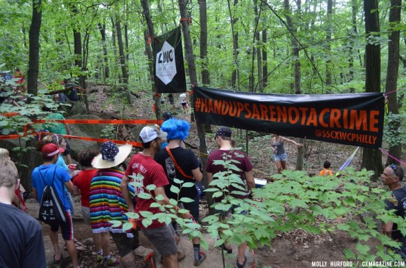 Even at MTB Nationals, cyclocross pride ran high on the East Coast. © Cyclocross Magazine