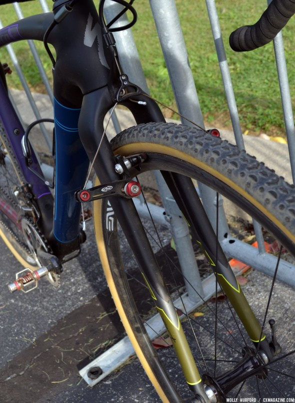 Kemmerer and the C3 team are sticking with canti brakes for this season. © Cyclocross Magazine