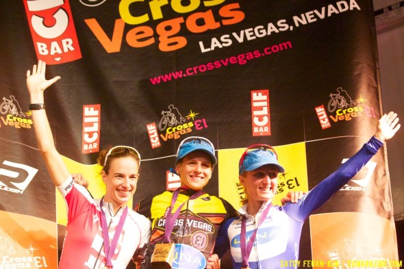 Davidson, Nash, and Pendrel form the international podium for CrossVegas 2013. © Cathy Fegan-Kim, Cyclocross Magazine