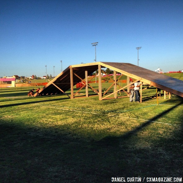 Course setup for CrossVegas 2013. © Cyclocross Magazine