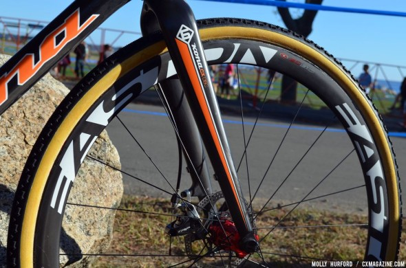 The Easton wheels are a road/MTB hybrid. © Cyclocross Magazine