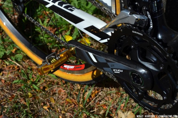 Candy pedals from Crankbrothers on Myerson's Ridley X-Fire. © Cyclocross Magazine