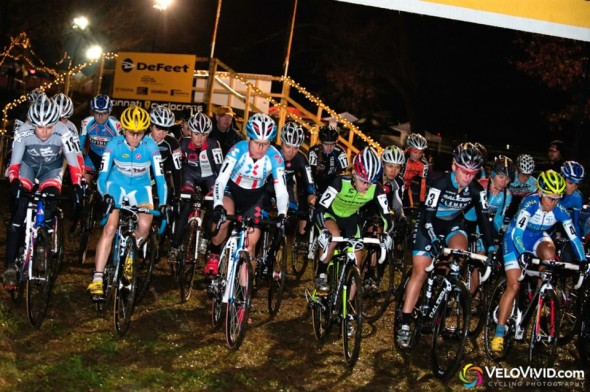 Elite women start at CX after Dark in 2012.