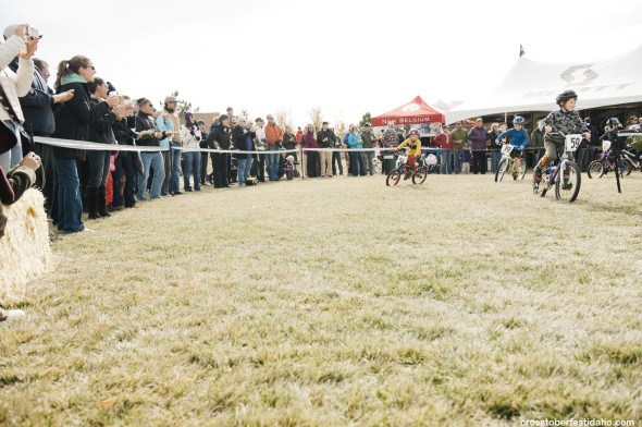Kids have plenty of racing opportunities too at Crosstoberfest. photo by Tal Roberts.