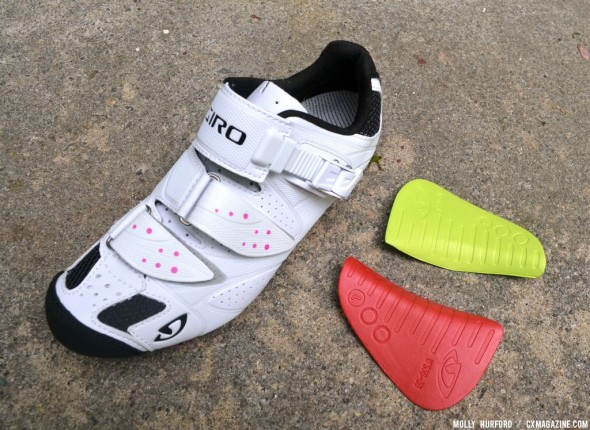 Different inserts for the Women's Giro Sica MTB Shoe. © Cyclocross Magazine