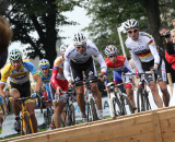 The men hit the barriers at GP Brabant. © Bart Hazen