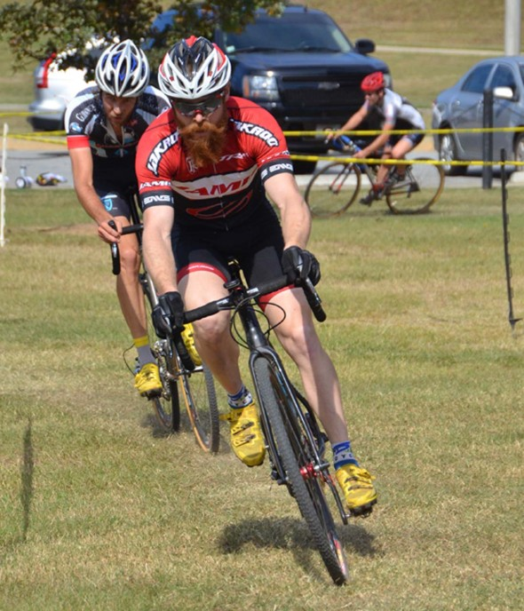 Racers round the course at Oktoberfest CX. © Trish Albert