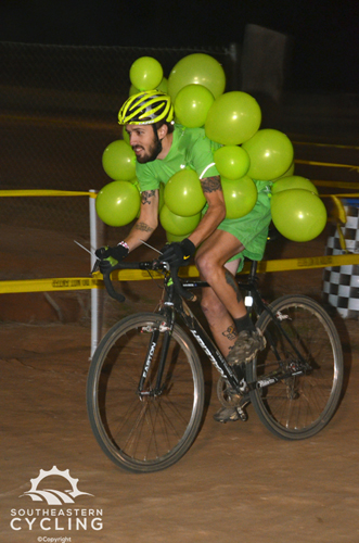 A green grape bunch was one of the costumes on hand at Savannah Superprestige. © Trish Albert
