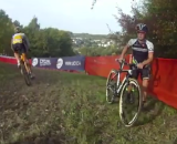 Katie Antonneau pre-rides the Valkenburg World Cup course
