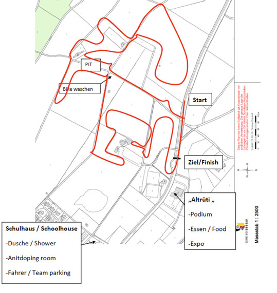 2014 UCI Masters Cyclocross World Championships course map.