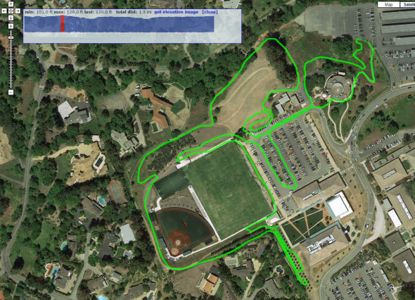 2013 Lion of Fairfax of Los Altos - Foothill College cyclocross race potential course map