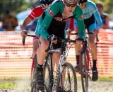 Haley leading in an OVCX race in October. © Kent Baumgardt
