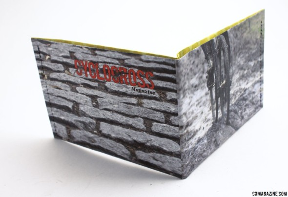 the photo-customized ThinFolio Tyvek 11g wallet, made in California. © Cyclocross Magazine