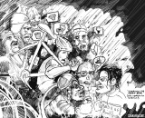 "Heckling can be a fun part of cyclocross, but can be a curse too. ""Carrying the Cross"" by Sean Horita"