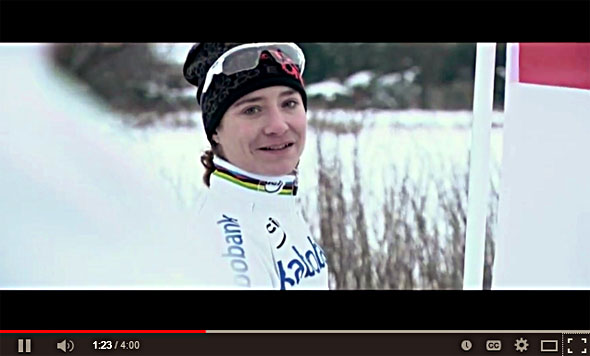 Marianne Vos in the 2014 Hoogerheide Cyclocross World Championship Promo video, filmed last winter.