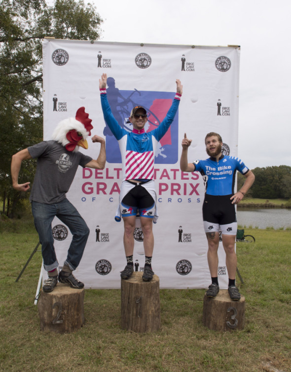 The Men's Cat 4 podium. © Micheal Boedigheimer