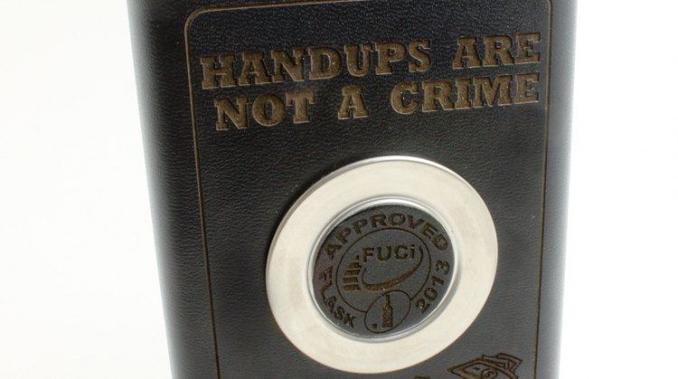 Handups are not a crime - cyclocross flask. © Cyclocross Magazine
