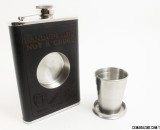 This cyclocross flask comes with its own integrated shot glass. © Cyclocross Magazine