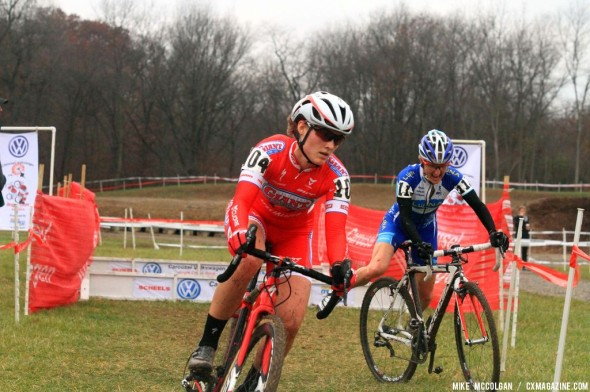 Anderson and Nash  on Day 2 of Jingle Cross Rock. © Michael McColgan