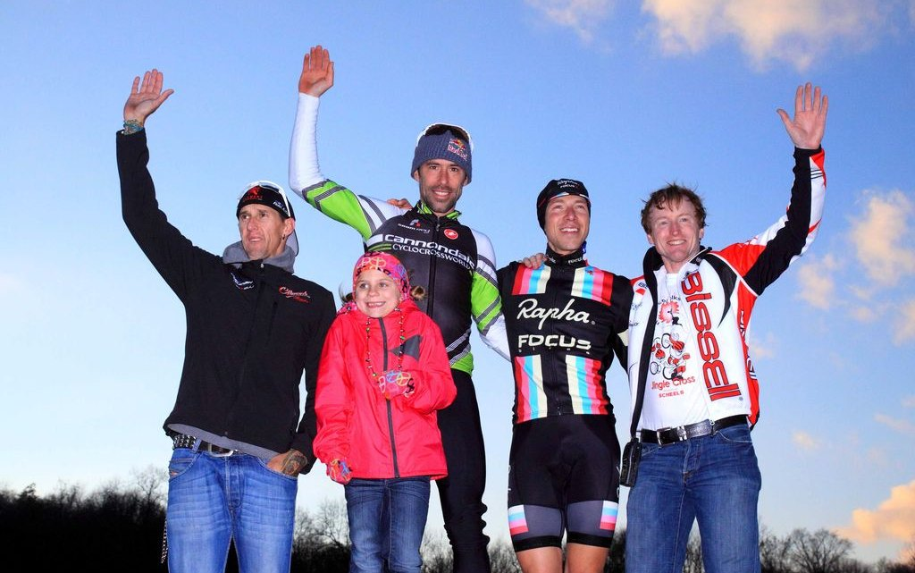 The men's podium on the last day of Jingle Cross Rock 2013. © Mike McColgan