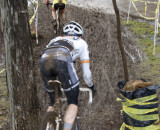 A mud slide, one of the course's more challenging sections, at the MAC series' Limestone Cross in 2102.  © Dennis Smith