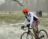 Adam Craig, calm in the lead, at SSCXWC 2013. © Cyclocross Magazine