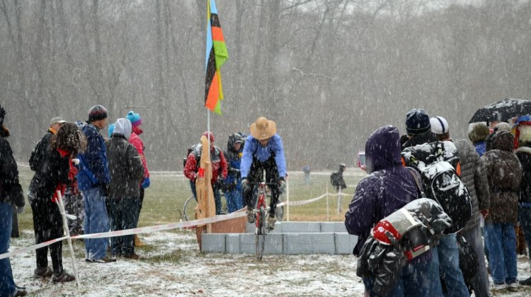 Pennsylvania Dutch doing some hopping at SSCXWC 2013. © Cyclocross Magazine