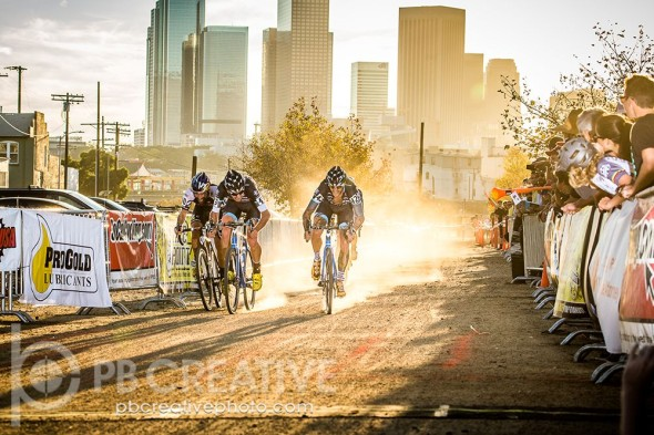 Berden in the lead at Sunday's LACX race. © Phil Beckman/PB Creative
