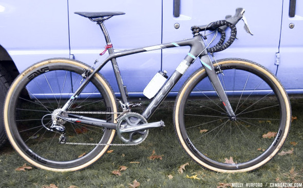 Shawn Milne and the Keough brothers are all racing on the carbon Felt bikes with  Shimano drivetrains and TRP cantilever brakes. © Cyclocross Magazine