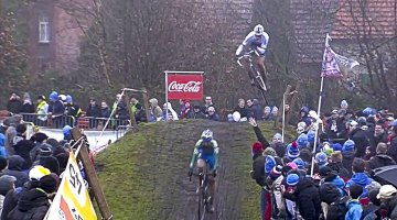 Stybar catching big air at the 2013 Loenhout race.
